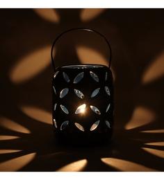 @ Home Blue Ceramic Hanging Candle Holder