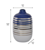 @ Home Blue Ceramic Homely Ink Small Vase