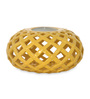 @ Home Brown Ceramic Urban Sun Net Candle Holder