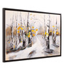 @ Home Canvas & Wood 33.5 x 1.6 x 22.4 Inch Garden Forest Framed Painting