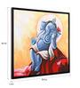 @ Home Canvas & Wood 33.5 x 1.6 x 33.5 Inch Ganpati Religious Framed Painting
