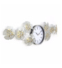 @ Home Golden Plastic 40.2 x 3.5 x 13 Inch Bloom Wall Clock
