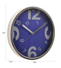 @ Home Indigo Plastic 12 x 1.6 x 12 Inch Homely Wall Clock