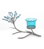 @ Home Multicolour Glass 1-Votive Stand Candle Holder