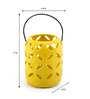 @ Home Yellow Ceramic Hanging Candle Holder
