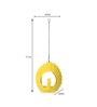 @ Home Yellow Ceramic Hanging Peacock Candle Holder