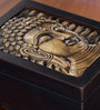 Ethnic Clock Makers Wenge Solid Wood Buddha Stationery Box