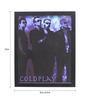 10am Wood & Canvas 8 x 0.5 x 10 Inch Coldplay Framed Digital Poster