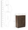 Wakana Two Door Shoe Cabinet in Wenge Colour by Mintwud
