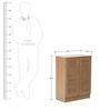 Wakana Two Door Shoe Cabinet in Oak Finish by Mintwud