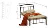 Single Bed in Black Color by Furniturekraft