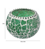 Gupta Glass Gallery Green Metal Tea Light Holder