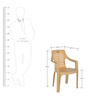 6020 Chair Set of Four in Marble Beige Colour by Nilkamal