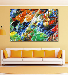 999Store Vinyl 72 X 0.4 X 48 Inch Abstract Painting Unframed Digital Art Print - 1505274