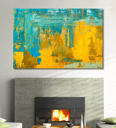 999Store Vinyl 72 X 0.4 X 48 Inch Modern Multicolour Abstract Painting Unframed Digital Art Print