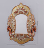 999Store Antique Royal Golden Wooden 17.5 x 0.5 x 24 Inch Peacock Hand Crafted Family Wall Hanging Photo Frame