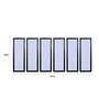 999Store Fibre 70 x 0.8 x 30 Inch Buddha Framed Art Panels - Set of 6