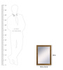 999Store Gold Fibre Decorative Wall Mirror