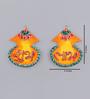 999Store Multicolour Wooden Handmade Diwali Kalash Shubh Labh Door Hanging - Set of 2
