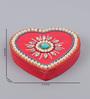 999Store Multicolour Wooden Handmade Heart Mukhwas Tilak Supari Kumkum Sindoor Dibbi Box