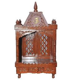 Aarsun Woods Brown Wooden Hand Crafted Temple - 1351828