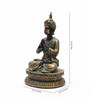 Aapno Rajasthan Brown & Gold Resin Beautiful Buddha Showpiece