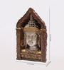 Aapno Rajasthan Brown Resin Mesmerizing Buddha Showpiece