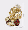 Aapno Rajasthan Gold Resin Elegant & Beautiful Ganesha Idol Showpiece