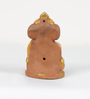 Aapno Rajasthan Multicolour Terracotta Ganesh Holding Mouse