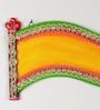 Aapno Rajasthan Multicolour Wood & Clay Royal Scroll Name Board Wall Hanging