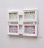 Aapno Rajasthan White Acrylic Wonderful Square Style Collage Photo Frame