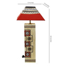 Aapno Rajasthan Worli painting Red & White Cotton Table Lamp