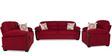 Abu Dhabi Royale Three Seater Sofa in Maroon Colour by Urban Living