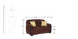 Abu Dhabi Royale Two Seater Sofa in Brown Colour by Urban Living