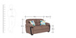 Abu Dhabi Royale Two Seater Sofa in Light Brown Colour by Urban Living