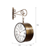 Abcoude Wall Clock in Brown by Amberville