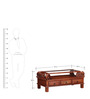 Abhramu Handcrafted Coffee Table in Honey Oak Finish by Mudramark