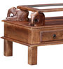 Abhramu Handcrafted Coffee Table in Provincial Teak Finish by Mudramark