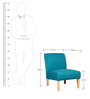 Abilio Accent Chair in Teal Finish by CasaCraft