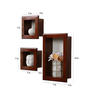 Abran Contemporary Wall Shelves Set of 3 in Brown by CasaCraft