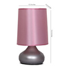 Abril Table Lamp in Pink by CasaCraft
