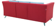 Adelia (3 + 2) Sofa Set with Cushions in Crimson Red Colour by CasaCraft