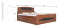 Adora Queen Bed with Box Storage in Walnut & Black Colour by Crystal Furnitech