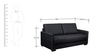 Adria (3 + 2 + 1) Sofa Set in Grey Colour by CasaCraft