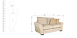 Bordeaux Beauty Two Seater Sofa with Throw Cushions in Cappuccino Colour by Urban Living