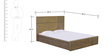 Adriano Queen Size Bed with Box Storage in Belgian Oak Finish by CasaCraft