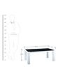 Adam Coffee Table in White & Black Colour by Royal Oak