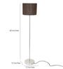Adria Floor Lamp in Brown by CasaCraft