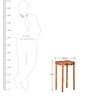 Aeon Side Table with Walnut Finish by @home