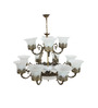 Barnsdale Chandelier in White by Amberville